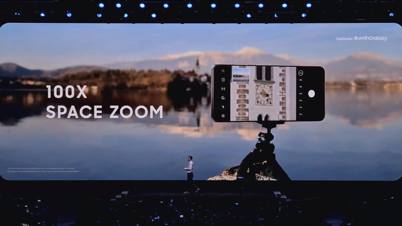 サムスンの新スマホ「Galaxy S20 Ultra」のカメラ、100倍ズームだって!#SamsungEvent