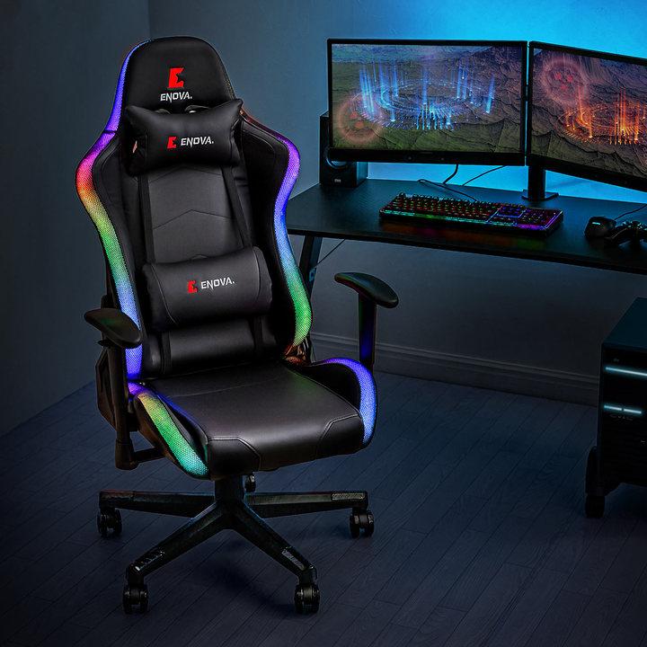 RGBレインボーLED増殖中のゲーミング業界。ついに椅子もLEDでピカピカー