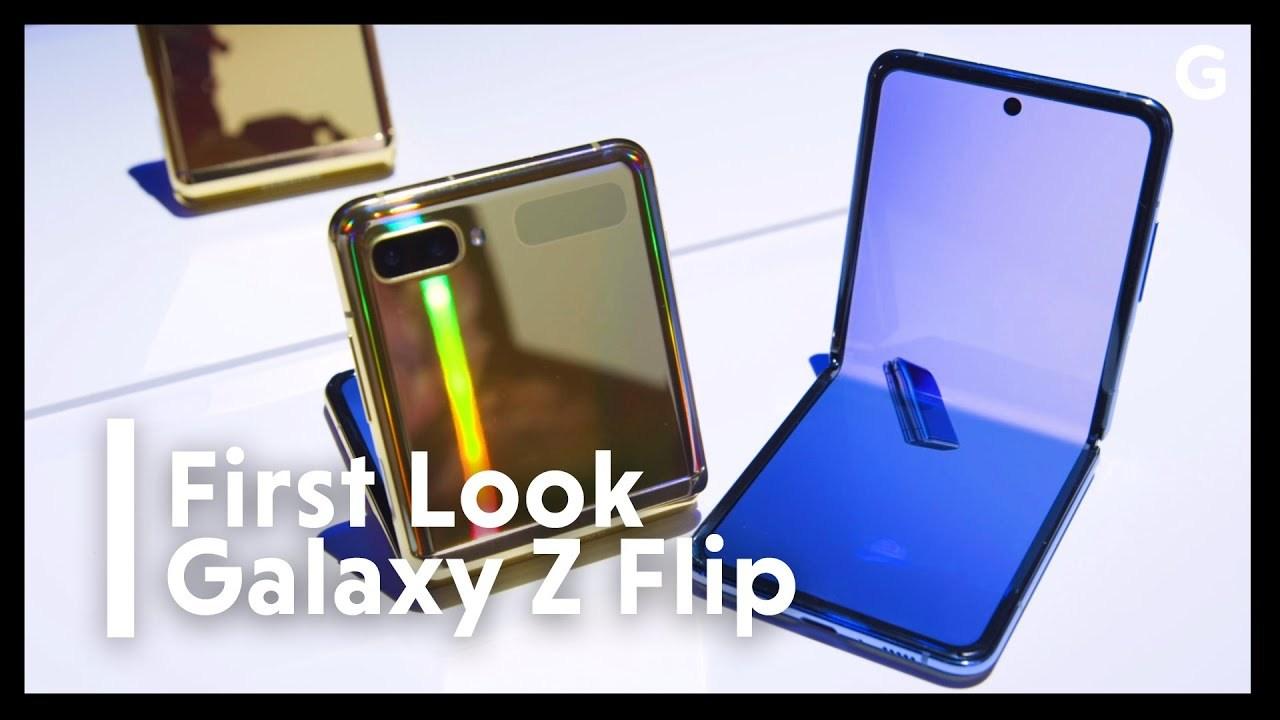 ファーストルック:Galaxy Z Flipはもっとも薄くて安い縦折りスマホ