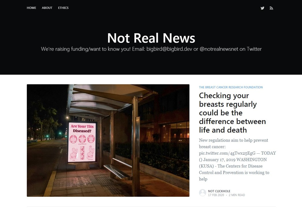 AIが絶妙なフェイクニュースを生成するウェブサイト、生まれた理由が深い