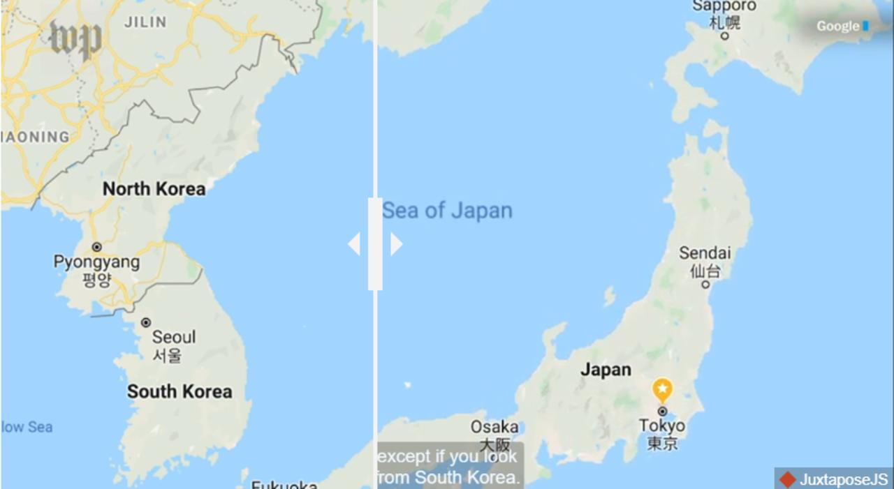 画像で比べっこ。Googleマップは見る国によって国境や地名がコロコロ変わる!