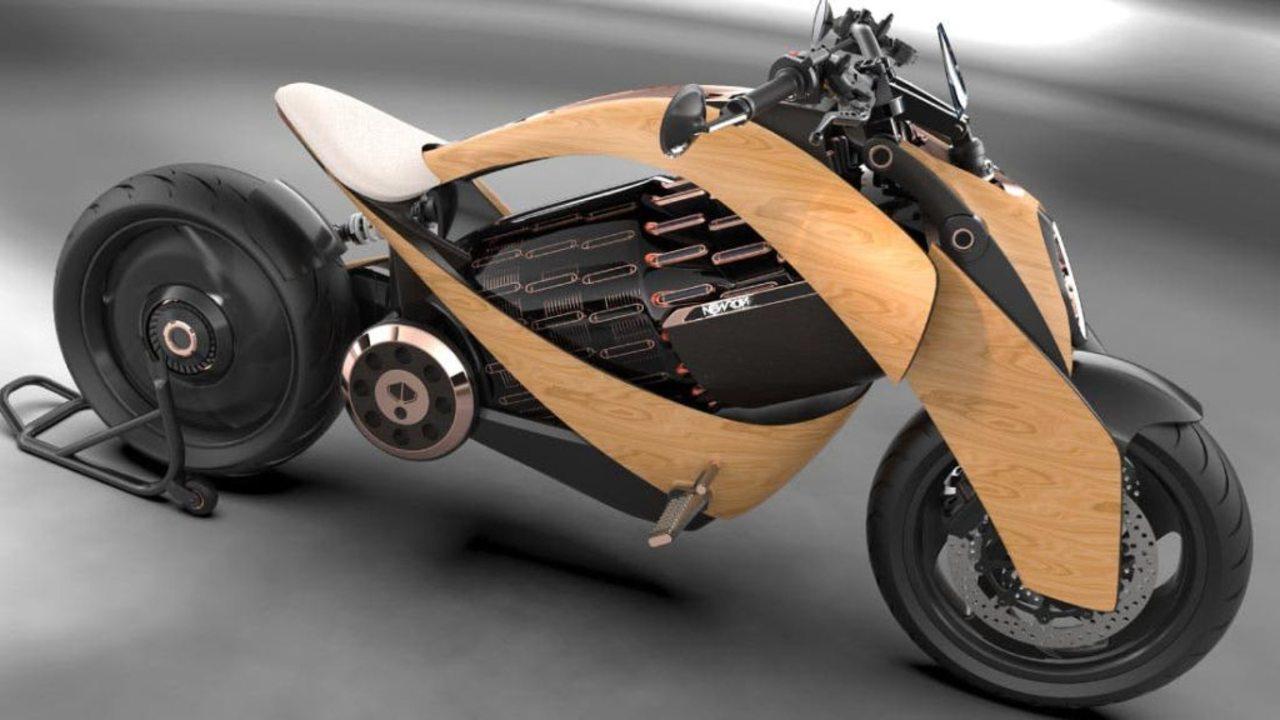 最初のロットはたったの12台。木製カウルのスチームパンク風EVバイク「Newron EV-1」