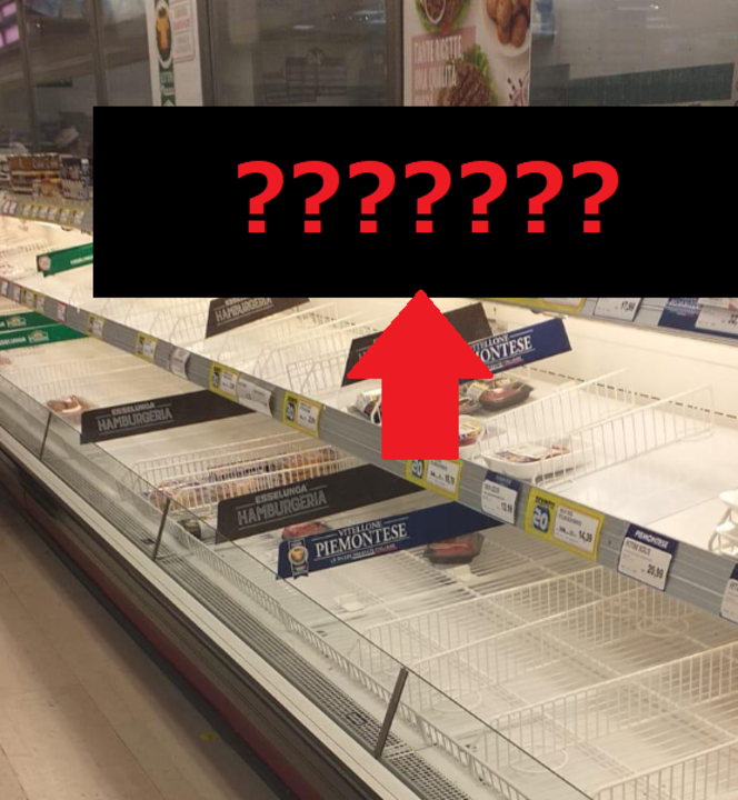 コロナパニックのイタリアのスーパーで売れ残っていたあるものとは?