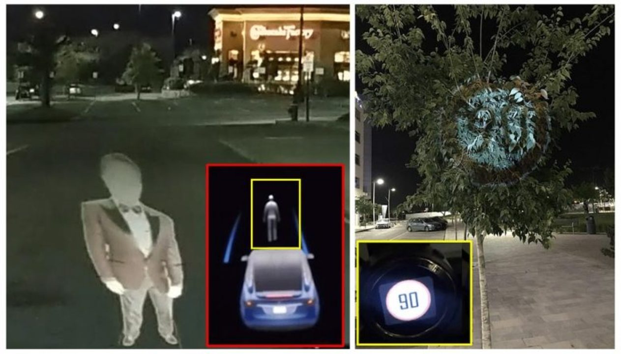 テスラの自律運転AI、ドローンに照射された「幽霊」画像にダマされる