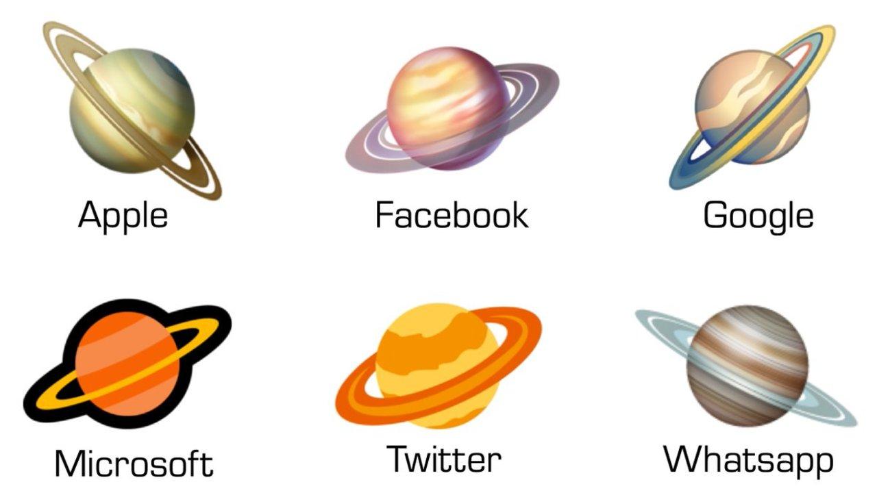 各テック企業が提供する土星の絵文字はどこが一番正確か? 専門家がランク付けしました