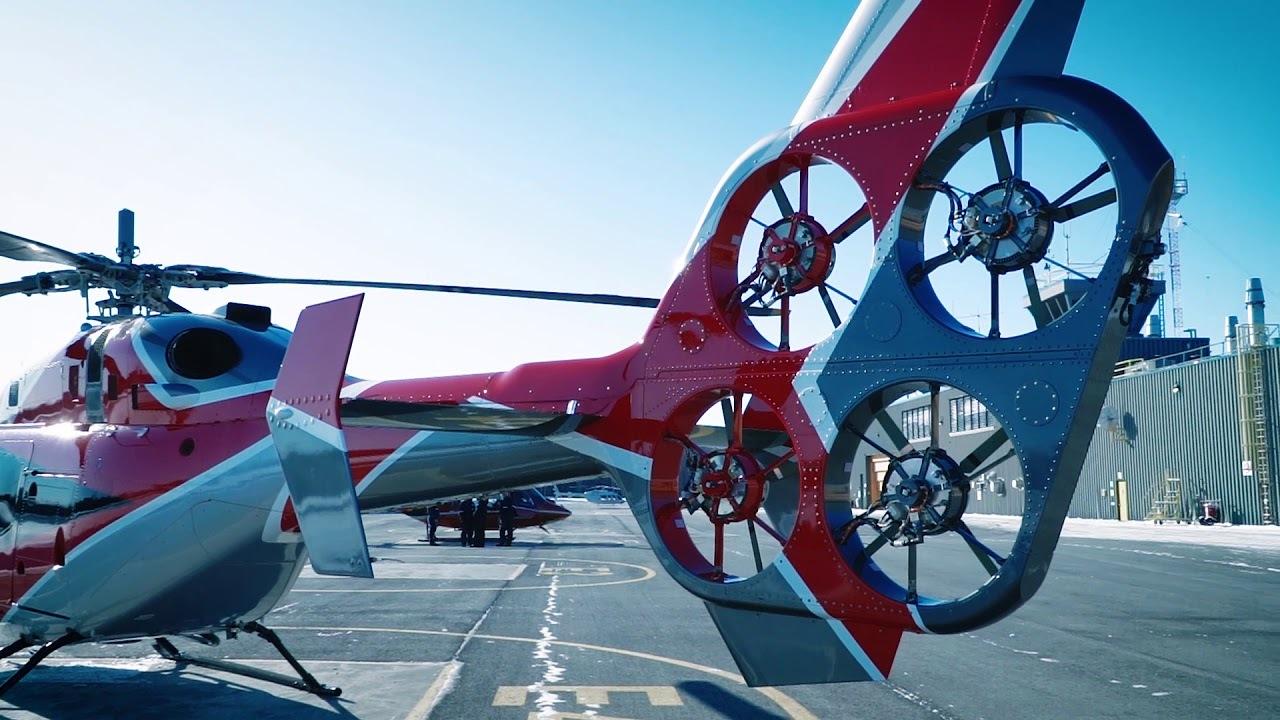 世界初。テールローターを4枚の電動にしたヘリコプターで、燃費向上&騒音も低下