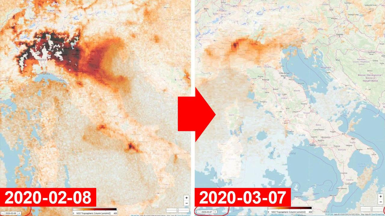 コロナで移動制限中のイタリア、大気の汚染物質が激減