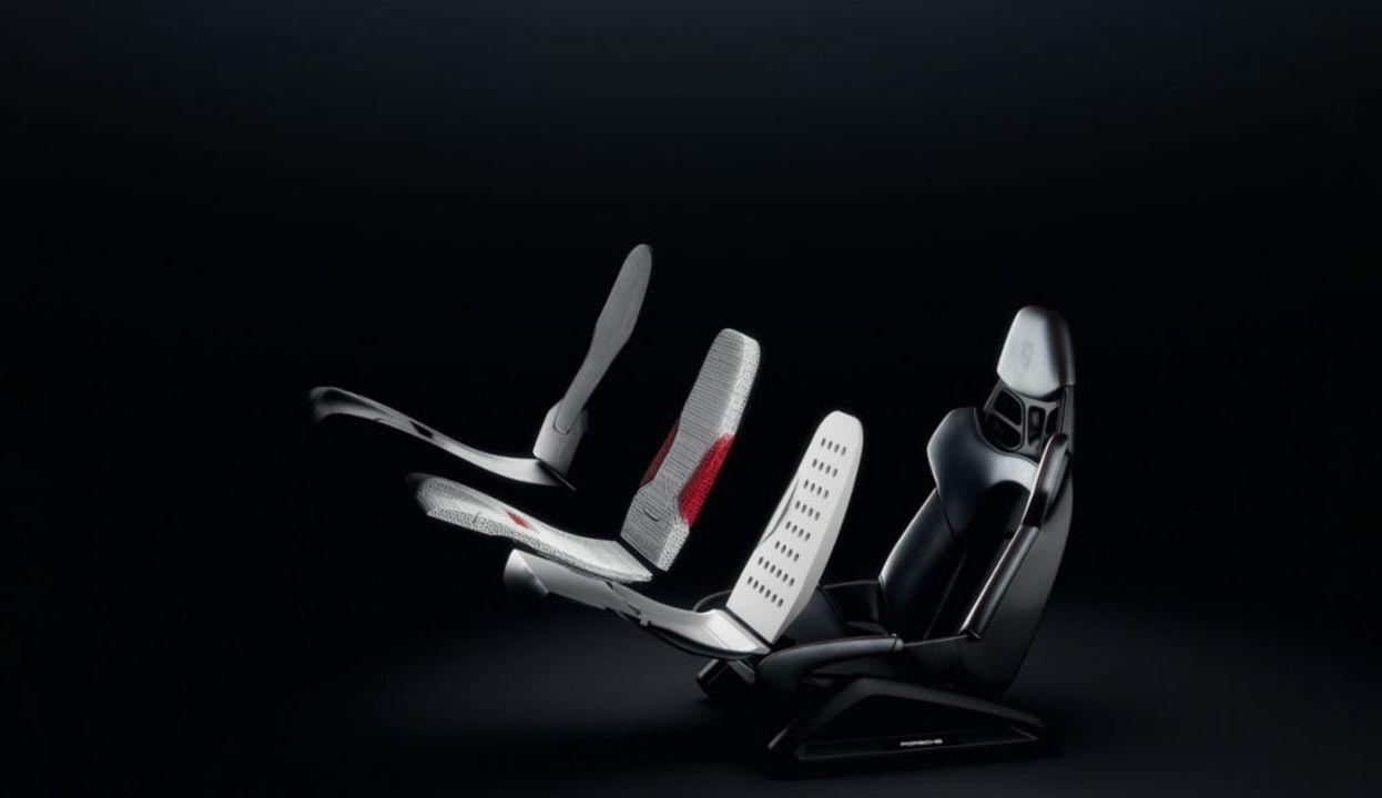 ポルシェ、3D印刷で硬さを選べるシート用メッシュ素材のクッションを採用