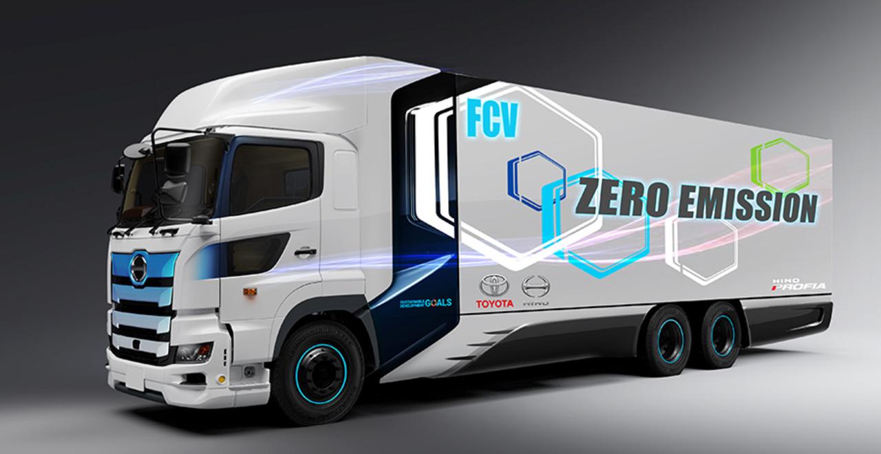 CO2削減! トヨタと日野が水素燃料電池の大型トラック開発を発表