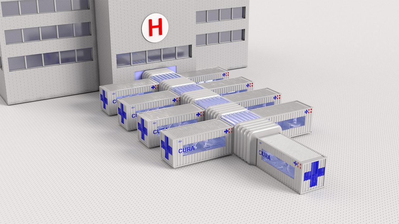 建築家がデザインした、ミラノで建造中のモジュール式コンテナ治療室