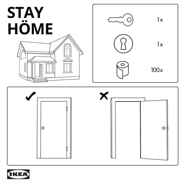 自宅待機がどれほど簡単か? IKEAイスラエルが取説で教えてくれた
