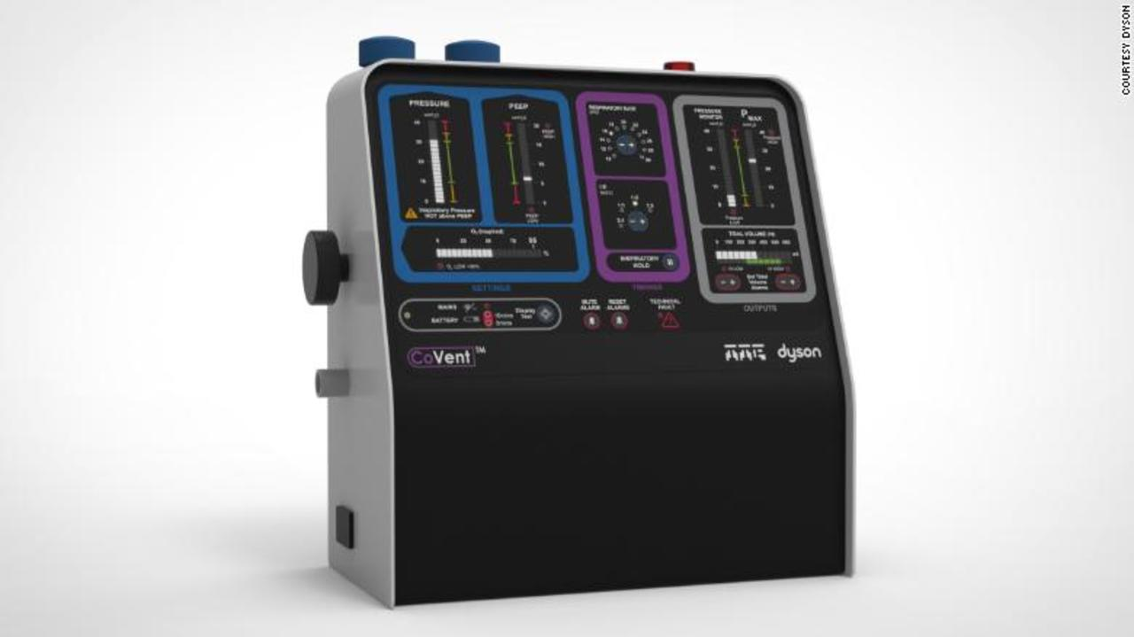 掃除機のダイソン、対コロナ用に10日間で新型人工呼吸器をデザイン