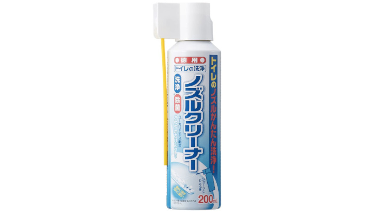 トイレのノズルや掃除しにくい噴出口の中まで、シュッとするだけでキレイにできるスプレー