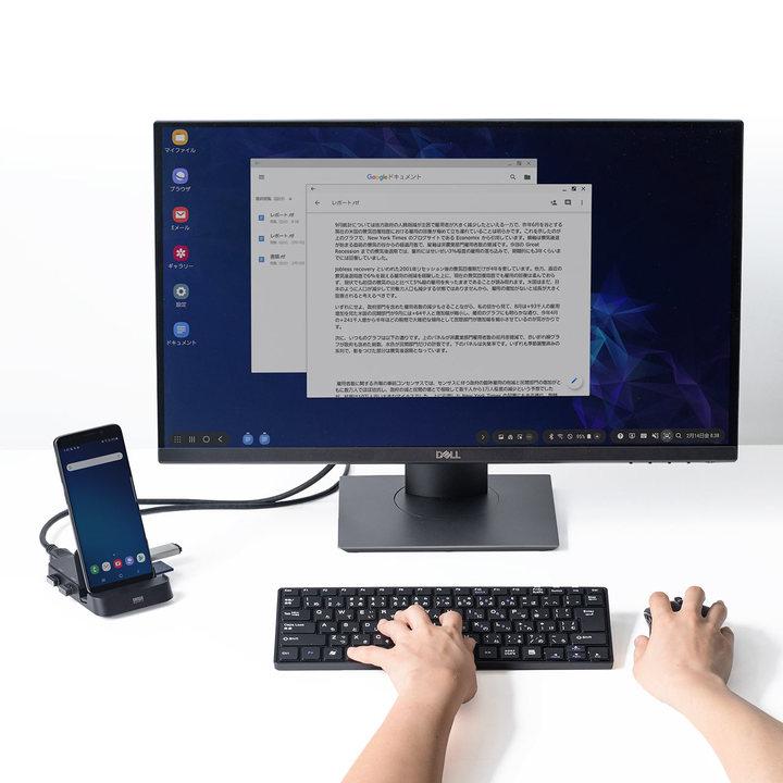 完璧なドックだ! スマホのデスクトップ化に対応したHDMI出力&カードリーダー