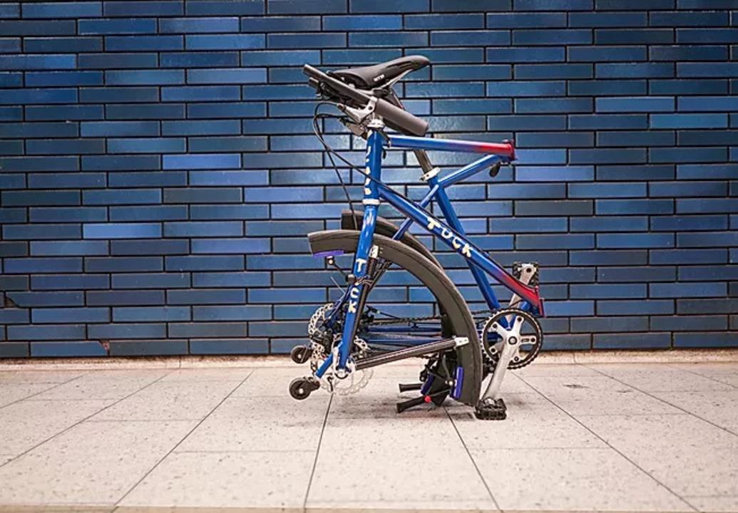 2分でタイヤごと折りたためる都市型自転車