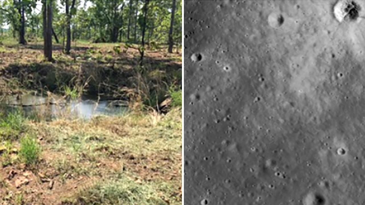 月のクレーターを学習したAI、地雷発見に役立つ