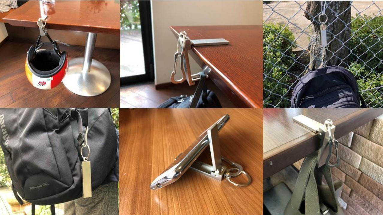 耐荷重10kg!テーブルに荷物を吊るせるようになる便利ツール「無限フック」が登場