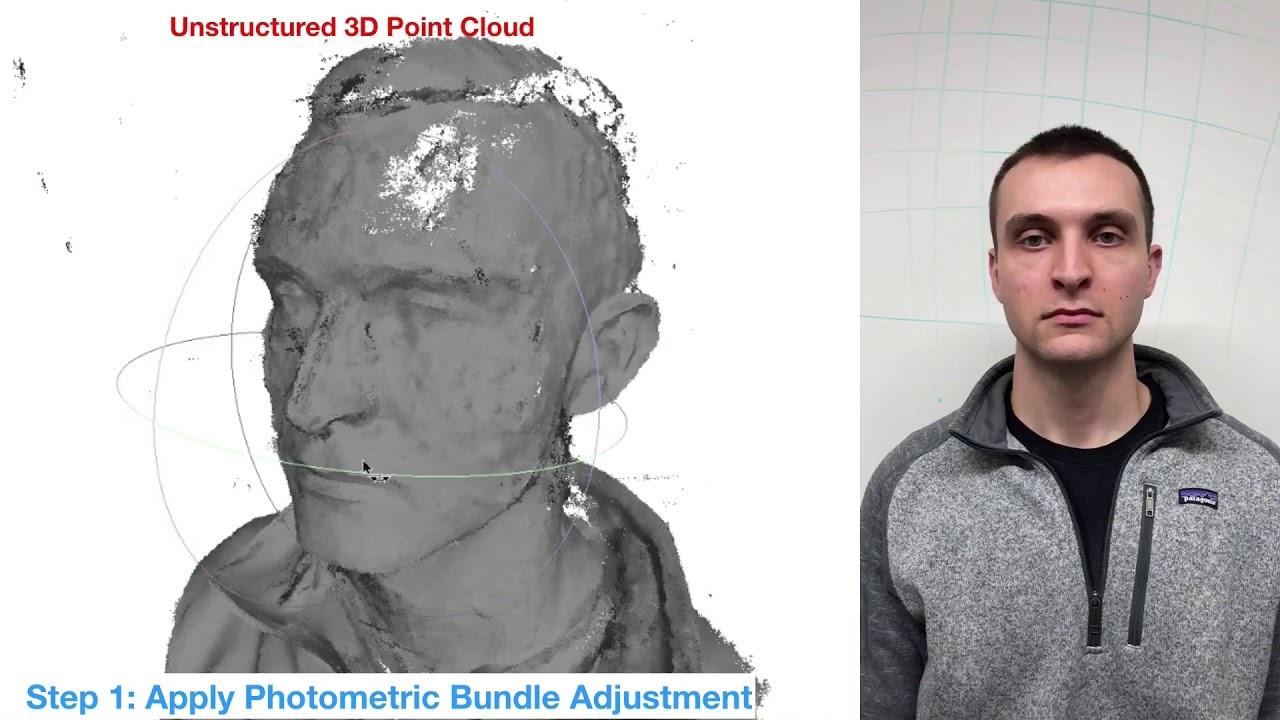 スマホのスロー動画で正確な顔の3Dモデルを作る技術が作られる