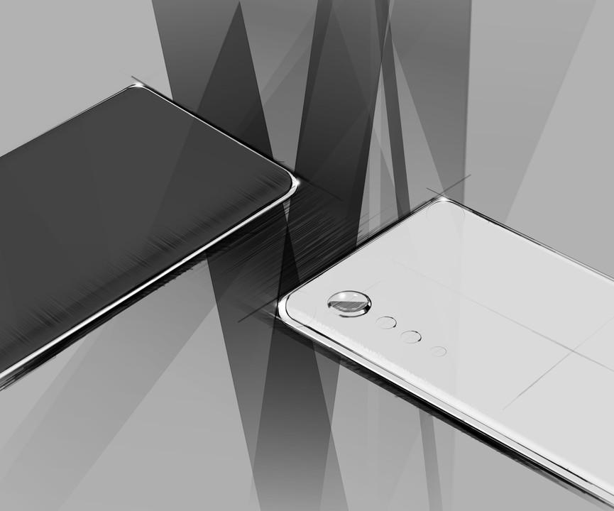 LGが次期スマホのデザインを公開。レインドロップカメラ採用の「LG VELVET」