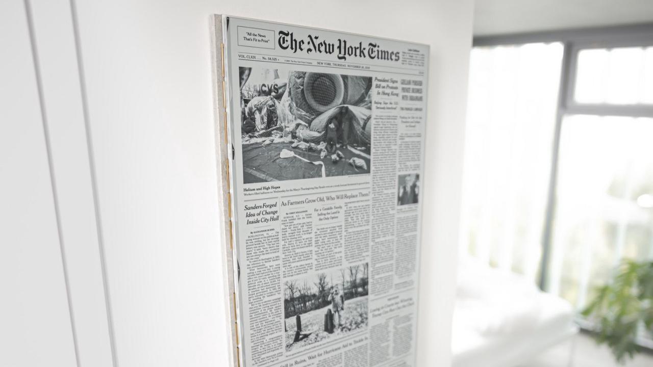 ノスタルジックなあのインパクト…。新聞の一面というデジタルアート
