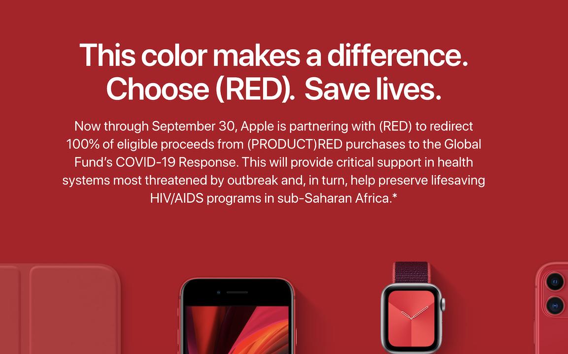 (PRODUCT)REDのアップル製品、新型コロナウイルス対策へ利益が寄付されます