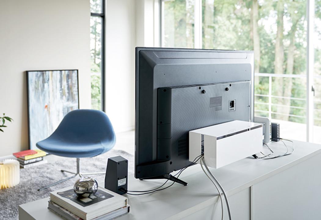 液晶テレビの背面スペース、有効活用できますよ?