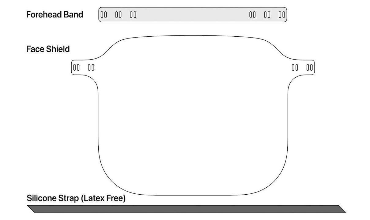 Appleがフェイスシールドの図面データを専門家向けに公開【修正あり】