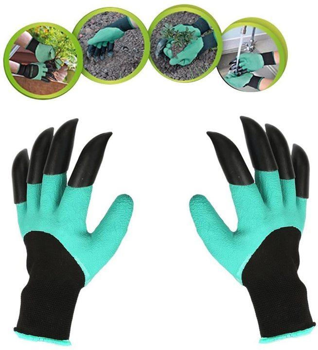 ガーデニングで野生にかえれ! 獣のような爪付き ゴム手袋