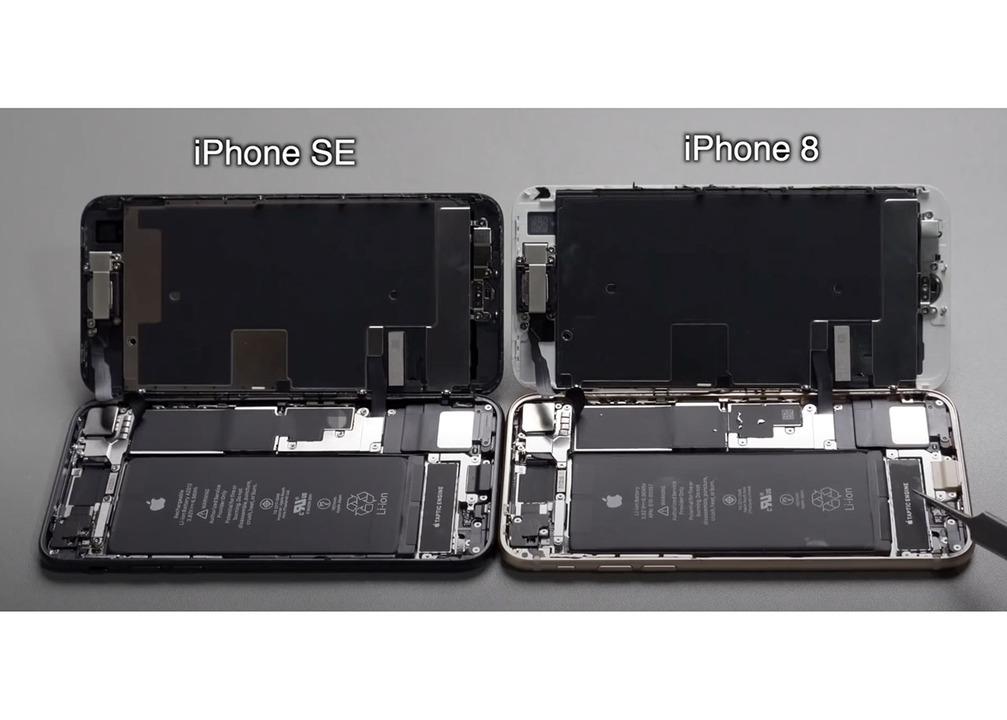 iPhone SEがさっそく分解される。中身もiPhone 8にそっくり