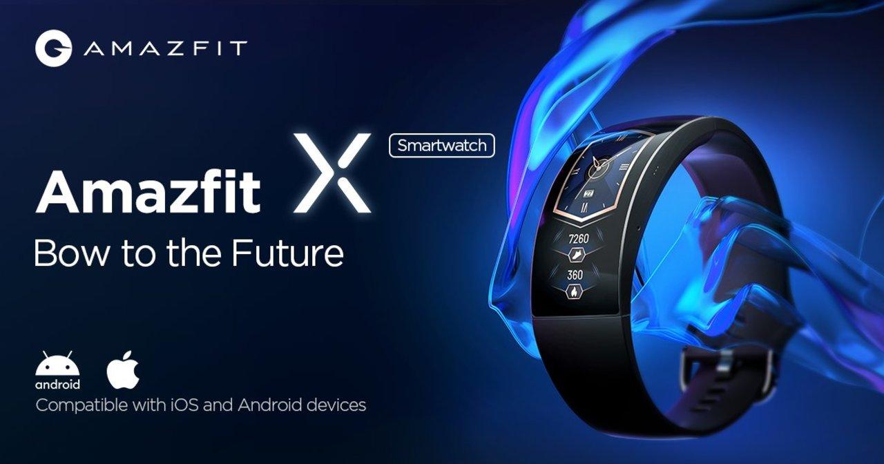 92度の曲面ディスプレイを持つ腕輪型スマートウォッチ「Amazfit X」