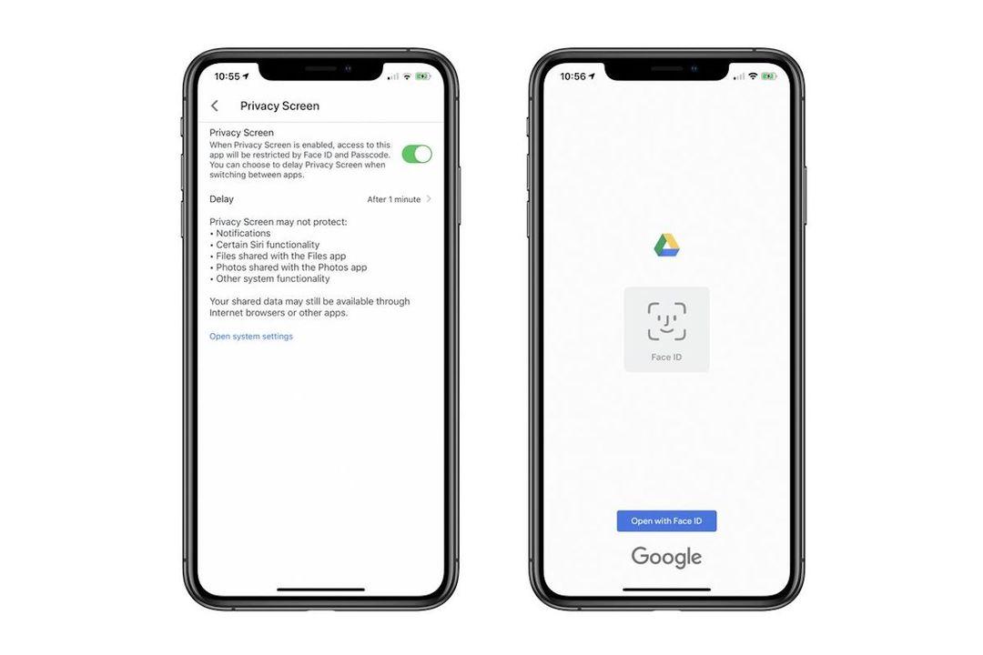 Google DriveもFace ID/Touch IDでしっかりガード