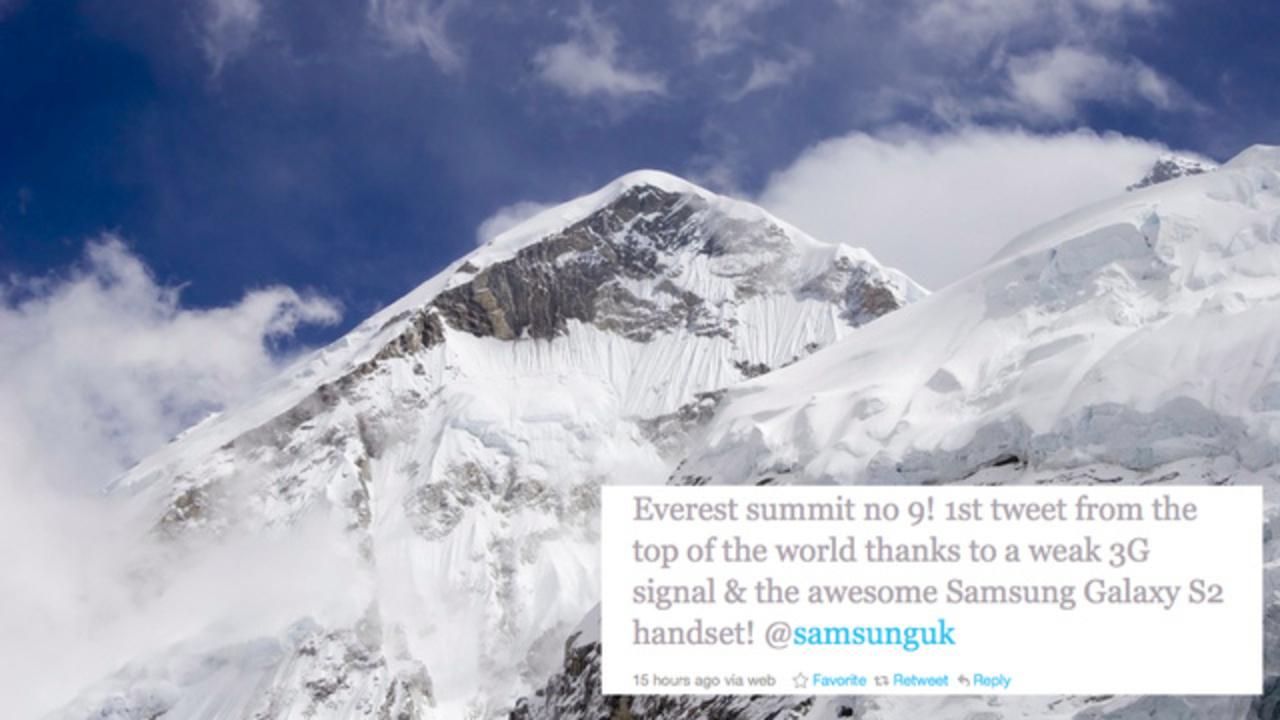 世界最高峰のエベレスト山頂が5Gエリアに!