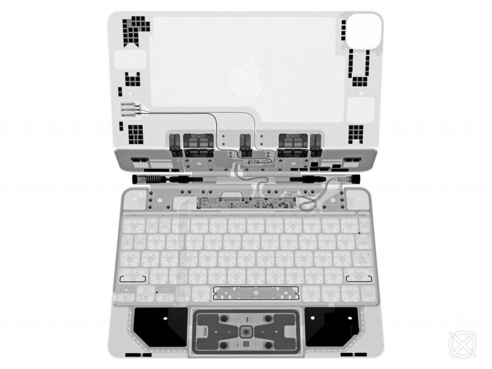 iPad ProのMagic Keyboardを分解詳細。トラックパッドに違いあり?