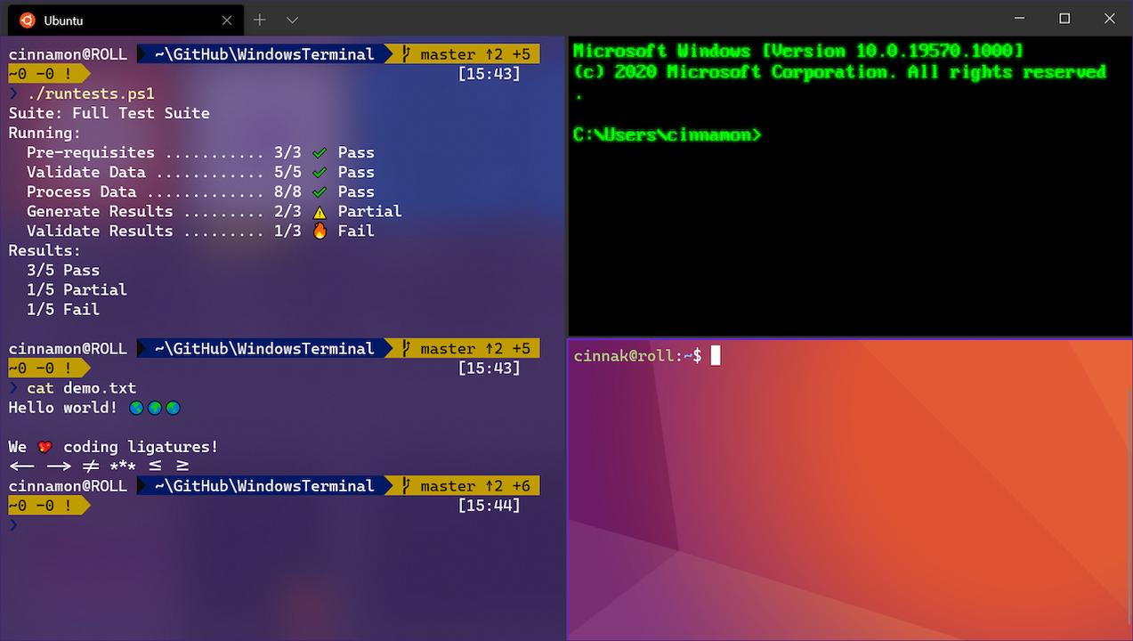 Windows Terminal 1.0が正式リリース。ブラウザみたいにタブ操作できます