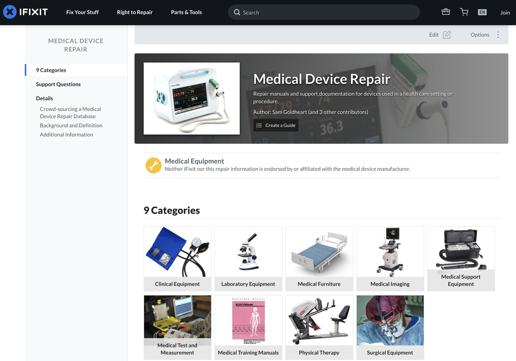 ガジェットの分解でおなじみのサイト「iFixit」が考えた、医療のためにできること