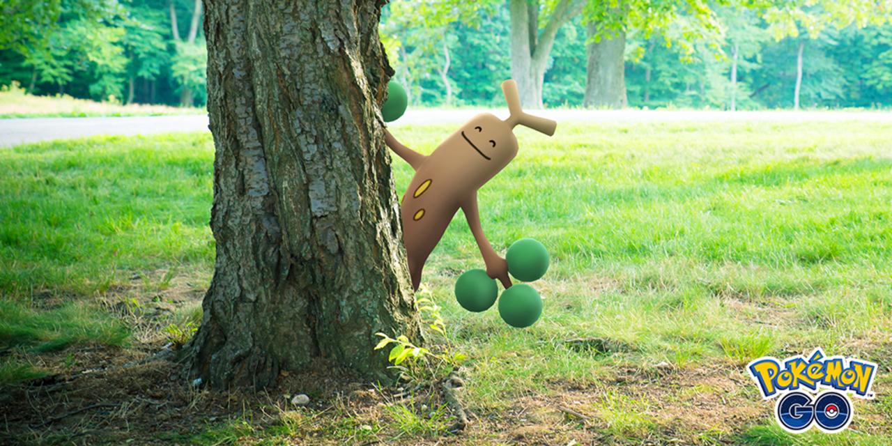 木の後ろからポケモン、ヨッ。ポケモンGOにARブレンディング搭載