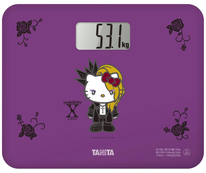 感じてみろ! Yoshikiとキティちゃんのコラボ「YOSHIKITTY」から体重計、降誕