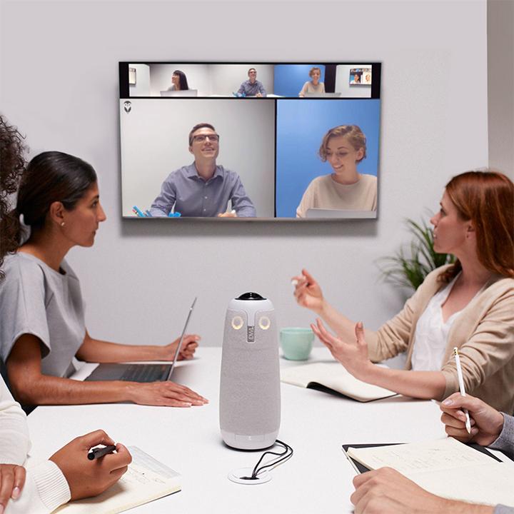 参加者全員の顔を大きく映し出してくれるフクロウみたいな会議用Webカメラ