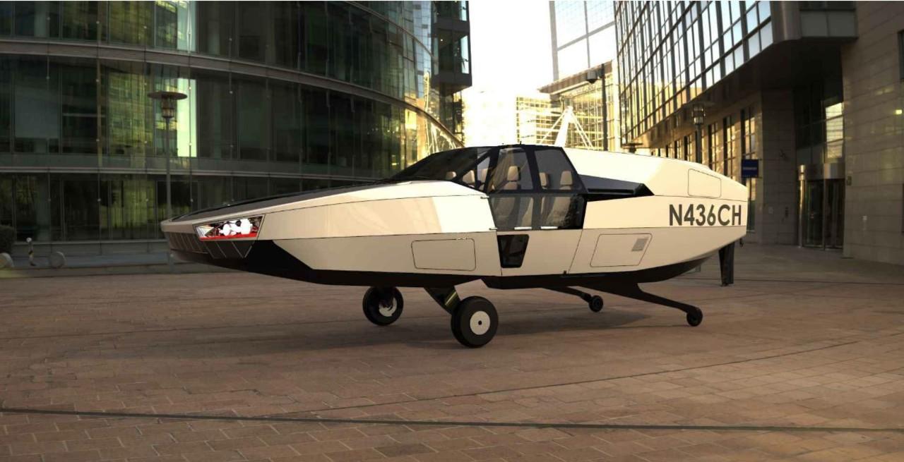 なにこれデロリアン? イスラエルの空飛ぶ水素燃料電池タクシー「CITYHAWK」