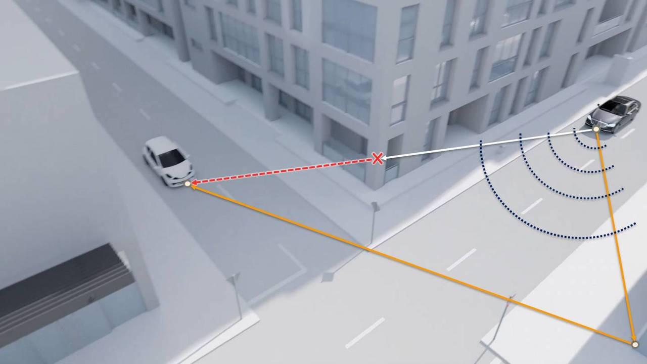 自動車事故防止に。曲がり角の死角を検出するドップラー・レーダーの研究