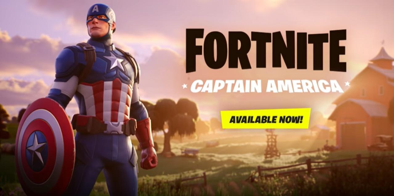 フォートナイトにキャプテンアメリカのコスチュームが登場!
