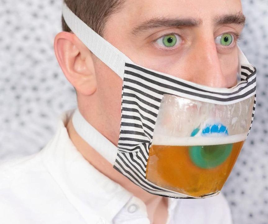 これぞ夏のマスク! 装着したままビールが飲める