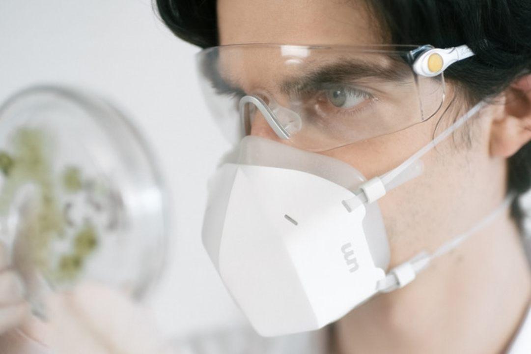 渦巻きとUV-Cで呼吸を殺菌するマスク「UVMask」