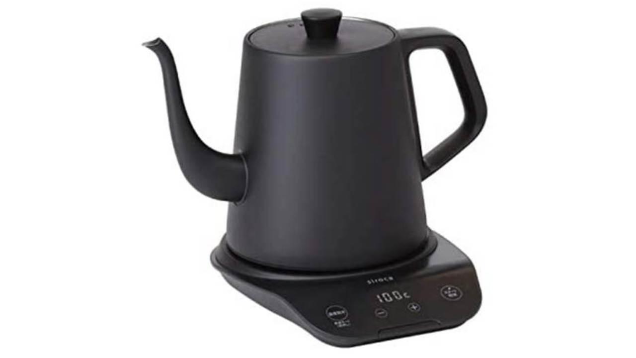 1℃単位で加熱と保温温度を設定できる電気ケトルなら、美味しい飲み物が手軽に用意できちゃう