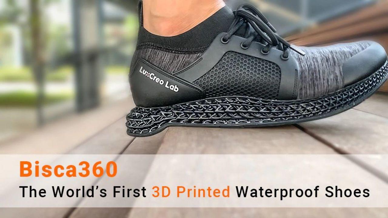 ガチで歩く人向け。クッション性&防水性バッチリな3Dプリントシューズ