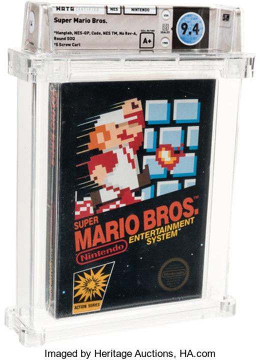 1年で100万円価値が上がるゲームソフト。未開封『スーパーマリオブラザーズ』が1218万円で落札される