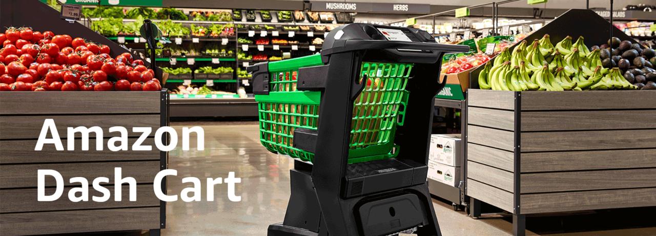 スーパーの買物をスムーズにするスマート・ショッピングカート「Amazon Dash Cart」