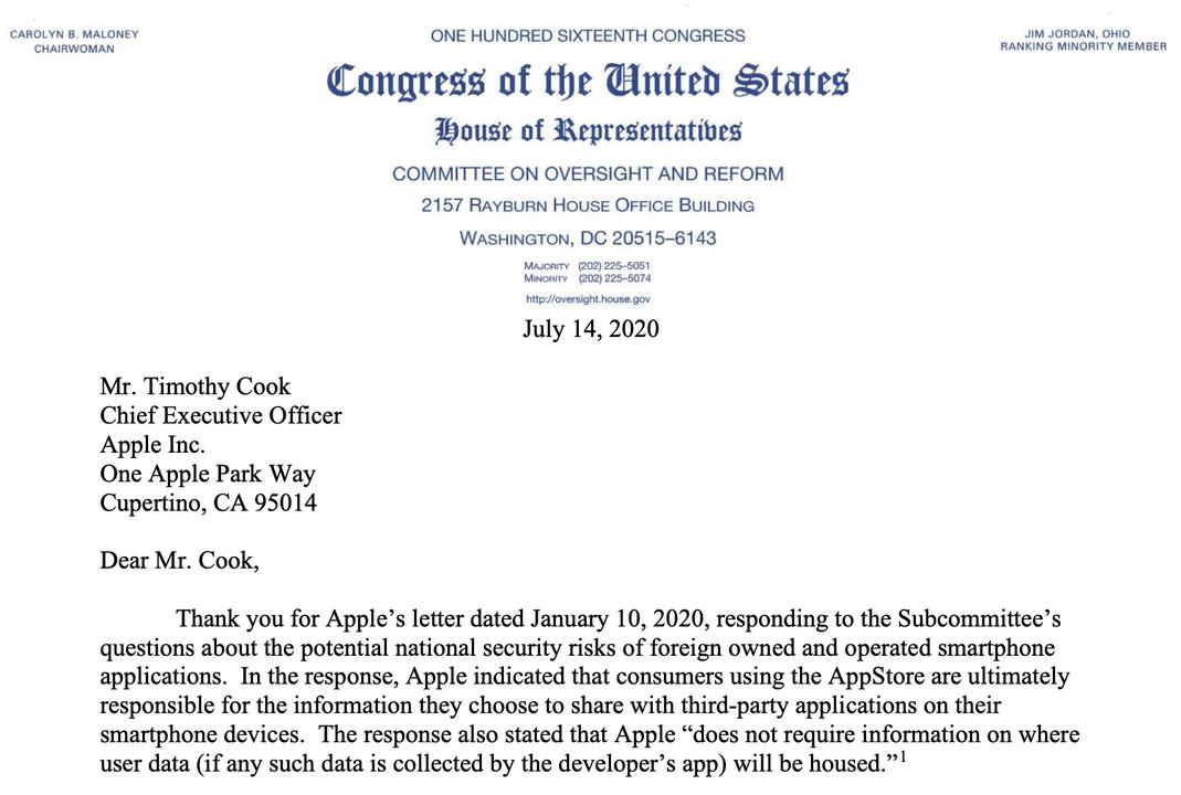 米議会、GoogleとAppleにアプリ「産地」の開示義務付けを求める
