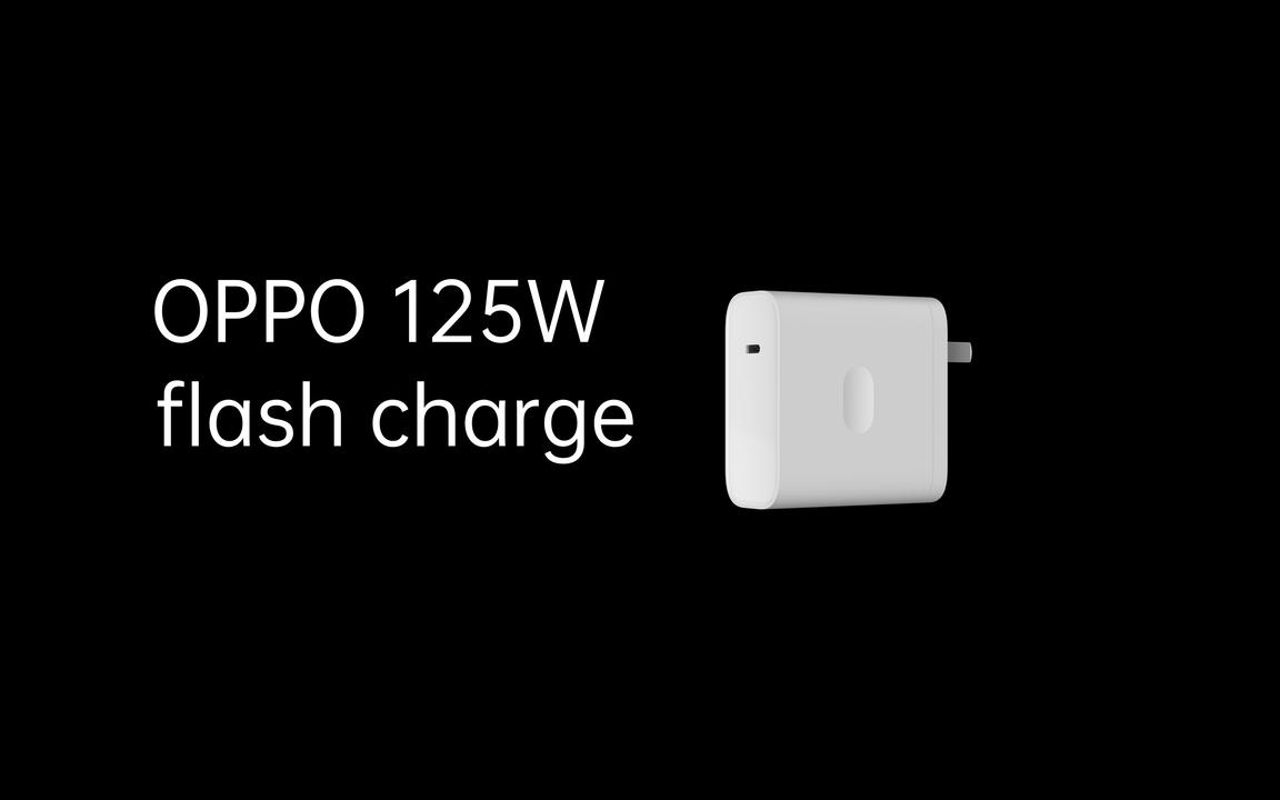 4000mAhを20分間で満充電。OPPOの125W急速充電アダプタと65W無線充電器
