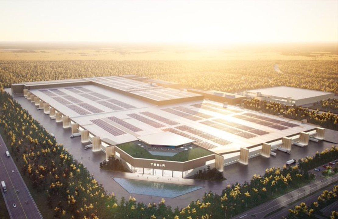 ドイツに建造されるテスラの巨大工場ギガ・ベルリン、完成予想図の屋上にはレイヴ会場が?